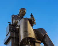 Monument to Alexander Popov with a dove on his arm, a Russian inventor of Radio. Stock Photography