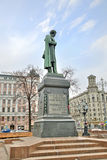 Monument to Alexander Pushkin Royalty Free Stock Photos