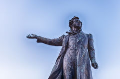 Monument to Alexander Pushkin on Arts Square, St Petersburg, Rus Royalty Free Stock Photos