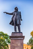 Monument to Alexander Pushkin on Arts Square, St Petersburg, Rus Stock Photography