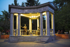 Monument to Alexander Pushkin in Krasnoyarsk Stock Image