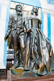 Monument to Alexander Pushkin and Natalia Goncharova Royalty Free Stock Images