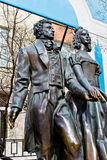 Monument to Alexander Pushkin and Natalia Goncharova Royalty Free Stock Image