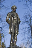 Monument to Alexander Pushkin in Ostafyevo estate, Moscow region Stock Image