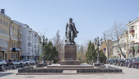 Monument to Alexander Sergeevich Pushkin on April 07; 2016 Stock Photo