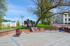 Monument to Alexander Sergeevich Pushkin in park named after Pushkin, Vitebsk, Belarus Royalty Free Stock Photo