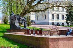 Monument to Alexander Sergeevich Pushkin in park named after Pushkin, Vitebsk, Belarus Royalty Free Stock Image