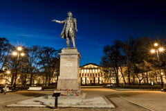 Monument to Alexander Sergeyevich Pushkin on arts square of Sain Royalty Free Stock Photography
