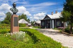 Monument to Alexander Suvorov. In Novgorod region, Russia Stock Photos