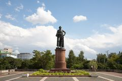 Monument to Alexander Suvorov in Moscow 21.07.2017 Royalty Free Stock Photography