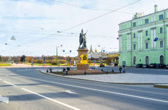 The monument to Alexander Suvorov in St Petersburg Royalty Free Stock Photography