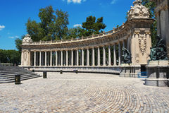 Monument to Alfonso XII in Buen Retiro park in Royalty Free Stock Photography