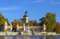 Monument to Alfonso XII, Madrid Stock Images