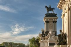 Monument to Alfonso XII stock photo