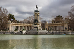 Monument to Alfonso XII in Madrid Stock Photos