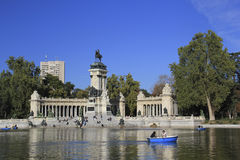 Monument to Alfonso XII, Madrid, Spain stock photo
