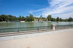 Monument to Alfonso XII in the Parque del Buen Retiro `Park of the Pleasant Retreat`, Madrid, Spain royalty free stock photos