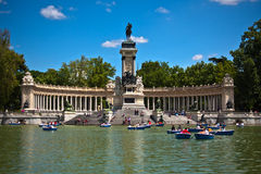 Monument to Alfonso XII in Parque del Retiro Royalty Free Stock Image