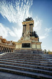 Monument to Alonso XII in Madrid, Spain Stock Image