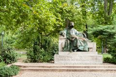 Monument to an anonimus in park Varosliget, Budapest royalty free stock images
