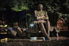 Monument to Anton Hansen Tammsaare stock photography