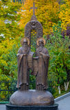 Monument to Antony and Theodosius in Kiev-Pechersk Lavra Royalty Free Stock Photo