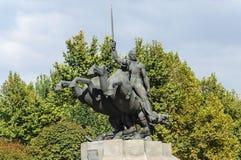 Monument to Armenian General Andranik Ozanian in Yerevan. Yerevan, Armenia - October 05, 2017: Equestrian monument to General Andranik Ozanian 1865-1927 Royalty Free Stock Images