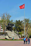 Monument to Ataturk in Antalya, Turkey Stock Photo
