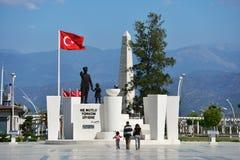 Monument to Ataturk in Fethiye, Turkey Stock Photos