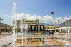 Monument to Ataturk in square in Kemer, Turkey Royalty Free Stock Images
