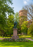 Monument to Auguste Bartholdi in Colmar - Alsace, France Stock Images
