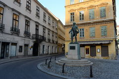 Monument to the Austrian playwright, comic actor, Opera singer Johann Nestroy. Royalty Free Stock Photos