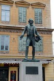 Monument to the Austrian playwright, comic actor, Opera singer Johann Nestroy. Royalty Free Stock Images