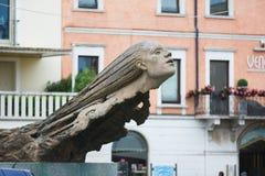 The monument to aviators. Desenzano del Garda, Italy - 09 May 2016: The monument to aviators in the city center on the square Matteotti Stock Image