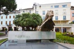 The monument to aviators. Desenzano del Garda, Italy - 09 May 2016: The monument to aviators in the city center on the square Matteotti Royalty Free Stock Photography