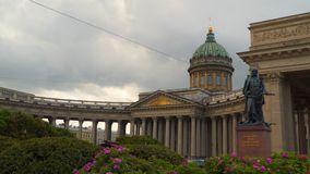Monument to Barclay de Tolly in St. Petersburg stock footage