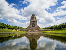 Monument to the Battle of the Nations, Leipzig. Voelkerschlachtdenkmal Royalty Free Stock Photo