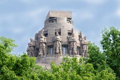 Monument to the Battle of the Nations Völkerschlachtdenkmal in Leipzig Germany. Monumentum royalty free stock photography