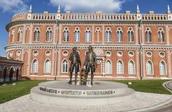 Monument to Bazhenov and Kazakov, architects of Tsaritsyno Royalty Free Stock Photos