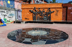 The monument to the Beatles, Ekaterinburg, Russia Stock Photo