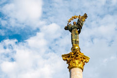 Monument to Berehynia on Kiev main square Royalty Free Stock Image