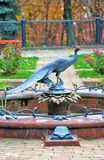 Monument to a bird in Moscow Kremlin. Stock Photo