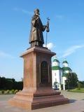 Monument to bishop Eoasaf Belgorodscky in Priluky Royalty Free Stock Photos