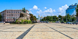 Monument to Bogdan Khmelnitsky, erected in 1888, Kiev, Ukraine. Royalty Free Stock Image