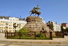 The monument to Bogdan Khmelnitsky on horseback Stock Photos