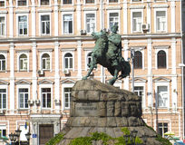 A monument to Bogdan Khmelnitsky on horseback. Kiev, Ukraine royalty free stock photo