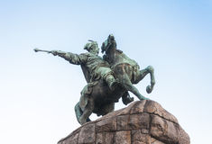 Monument to Bogdan Khmelnitsky in Kiev Stock Photos