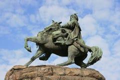 Monument to Bogdan Khmelnitsky in Kiev Stock Photo
