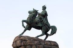 Monument to Bogdan Khmelnitsky an original symbol of Kiev. Ukrai Royalty Free Stock Photography