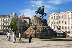 The monument to Bohdan Khmelnitsky in Kiev Stock Photo